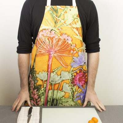 Summer Tropics | Pink & Orange Kitchen Apron | Tropical Kitchenware