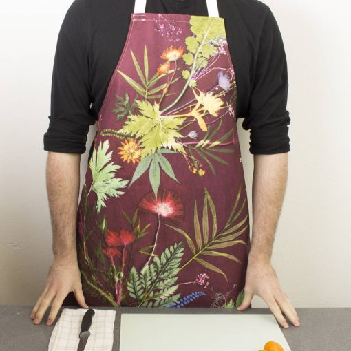 Tropical Wine | Green & Red Kitchen Apron | Tropical Kitchenware