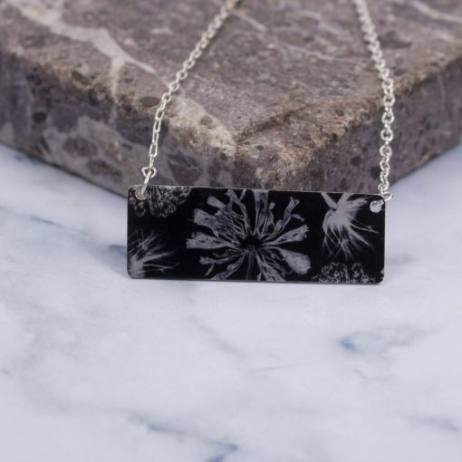 Exotic Inspired Spring Spectre Bar Pendant Necklace