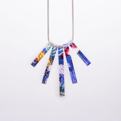 Indigo Tropical Acrylic Statement Necklace, Beautiful Jewellery Gift