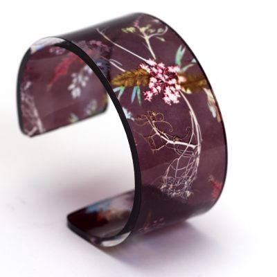 Stylish Edwardian Blooms Cuff Bracelet, Botanical Jewellery Gift