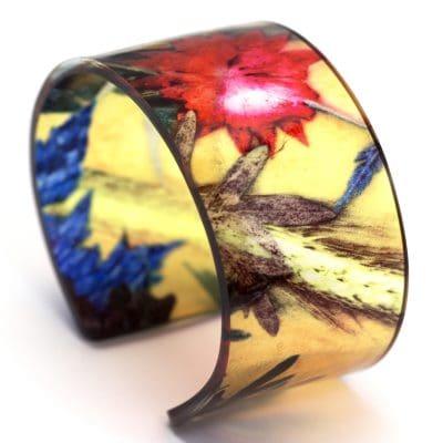 Summer Tropics Glasshouse Acrylic Cuff Jewellery Gift