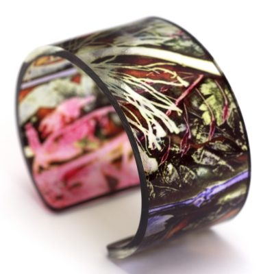 Tropical Sunshine Glasshouse Acrylic Cuff Jewellery Gift