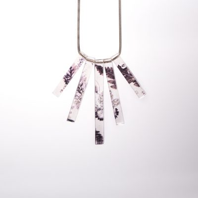 Winter Flourish Acrylic Statement Necklace, Beautiful Jewellery Gift