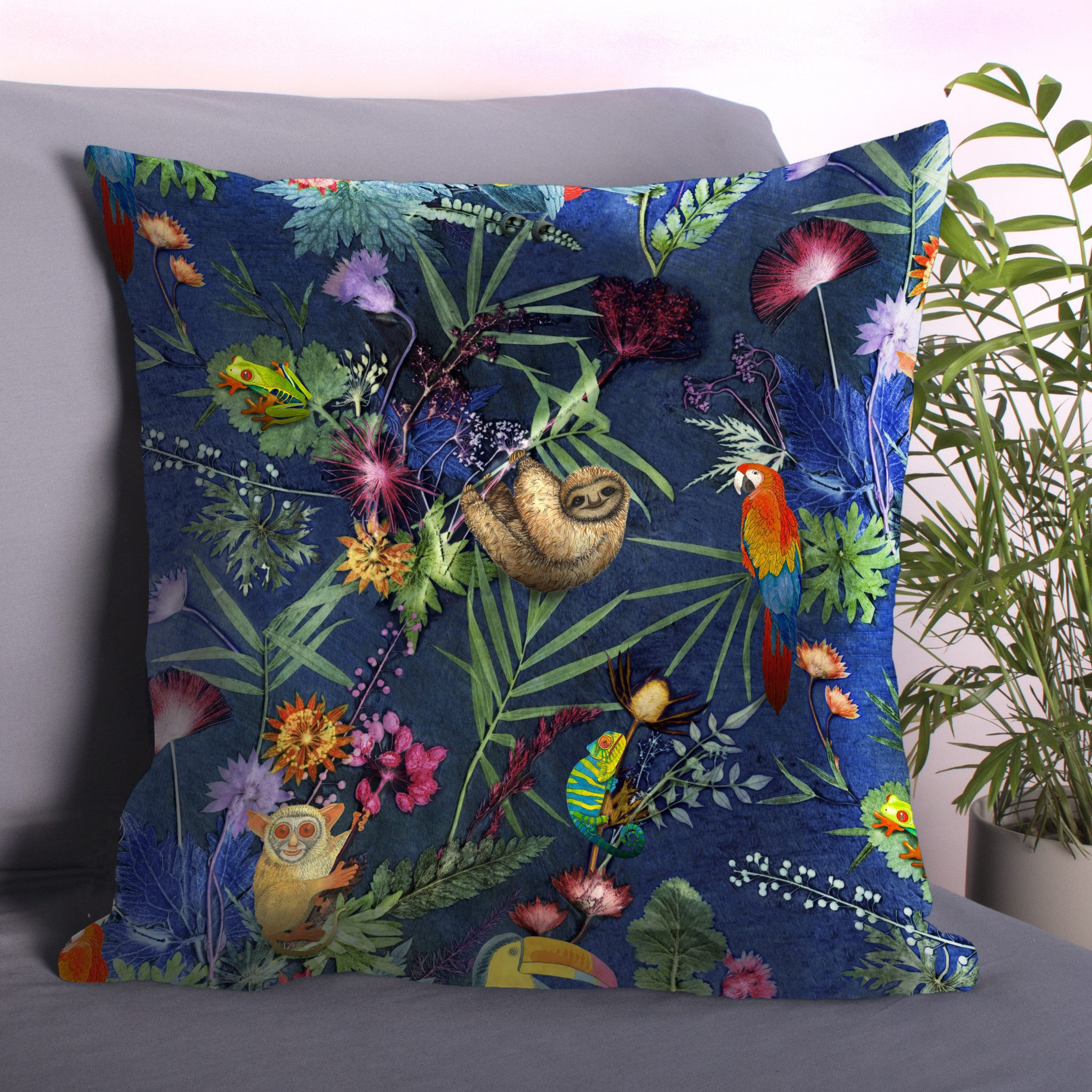 Jungle Surprise Sofa Cushion