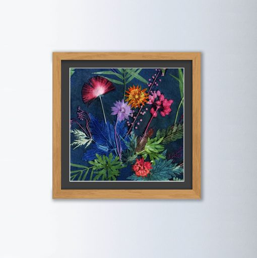 Indigo Tropical Wall Art AA05
