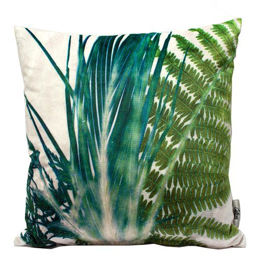 Forage 1 | Green & Cream Fern Design Sofa Cushion