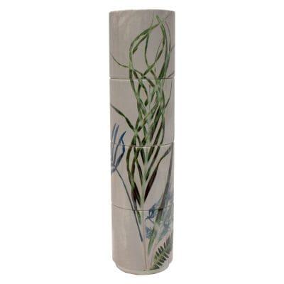 Bridging Vine | Cream & Green Stacking Mug, Gift Set of 4
