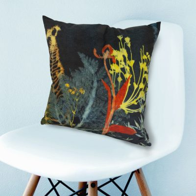 Secret Garden 2 | Dark Floral Print Sofa Cushion