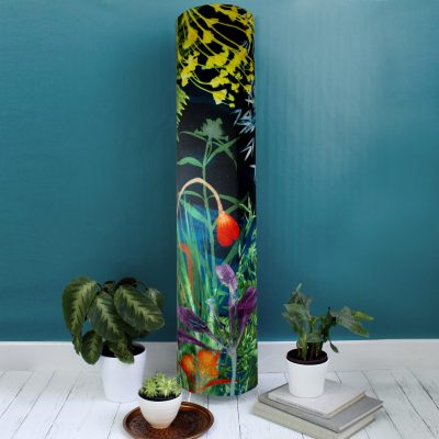 Secret Garden | Dark Floral Modern Floor Lamp, Interior Lighting