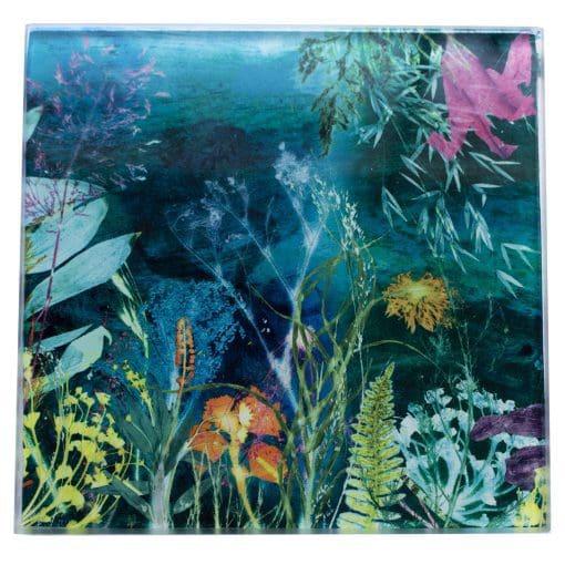 Aqua Magna 1 | Sea Green Single Glass Coaster