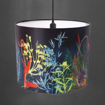 Secret Garden | Dark Floral Print Lampshade