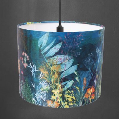 Aqual Magna | Sea Green Botanical Design Lampshade