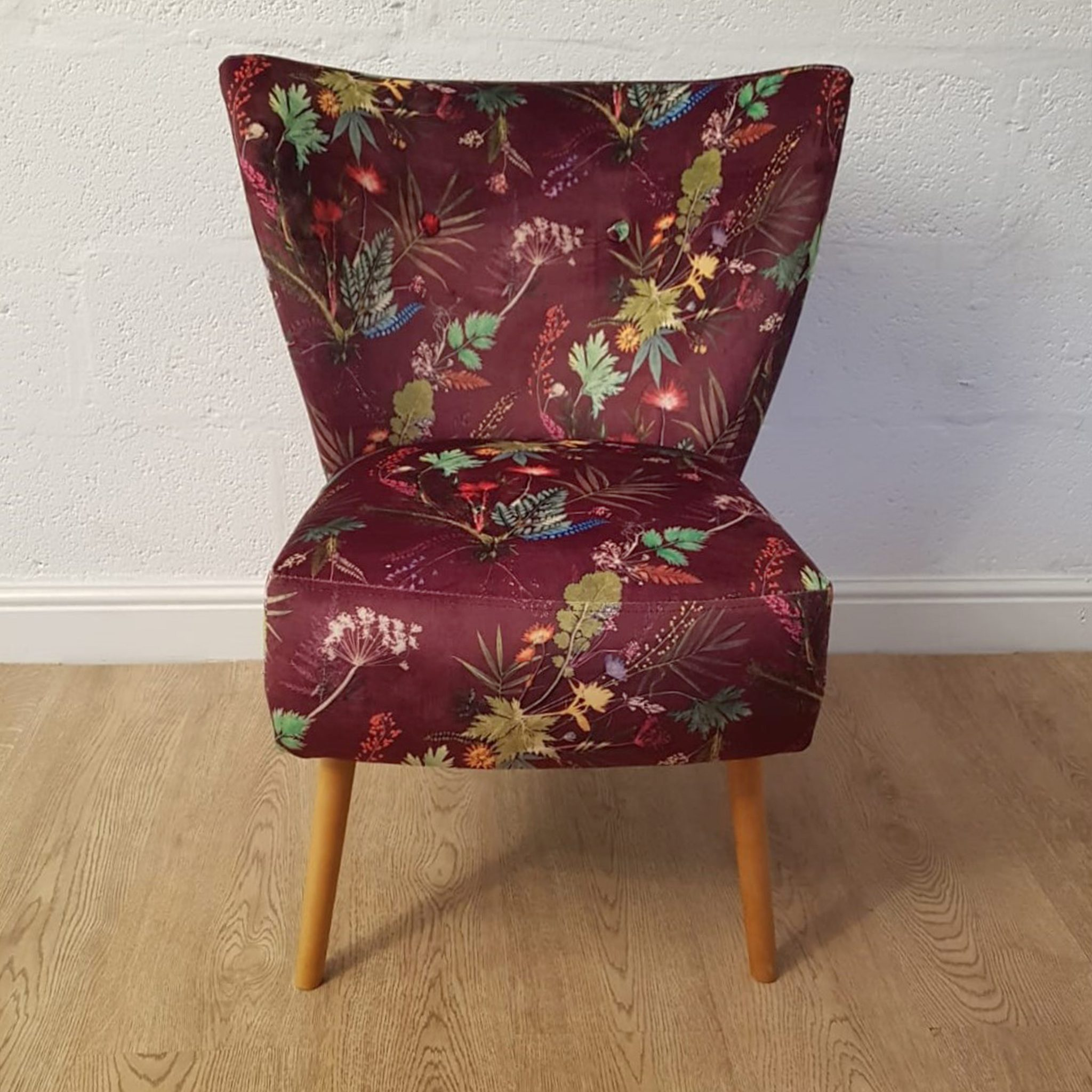 Tropical Wine Contemporary Chair Red Velvet Cocktail